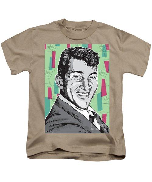 Dean Martin Pop Art Kids T-Shirt by Jim Zahniser