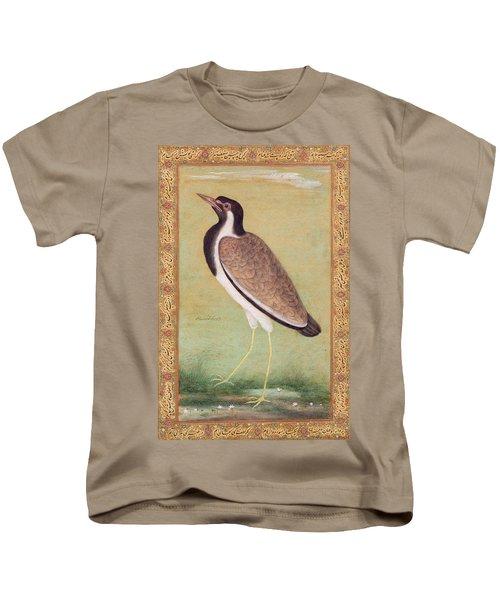 Indian Lapwing Kids T-Shirt by Mansur
