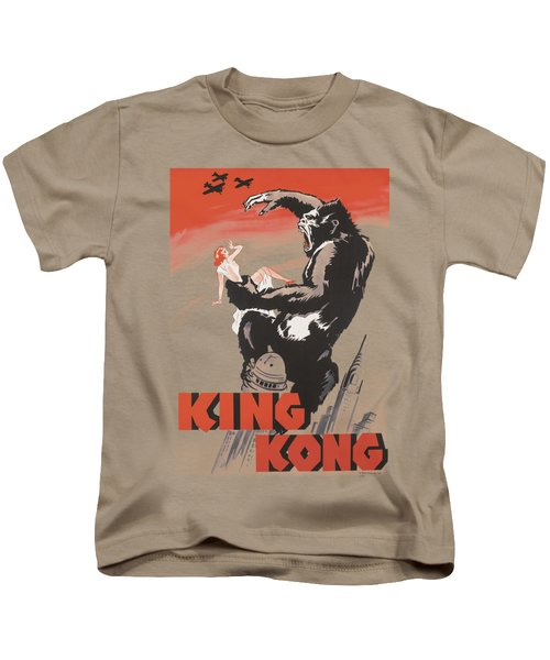 King Kong - Red Skies Of Doom Kids T-Shirt by Brand A