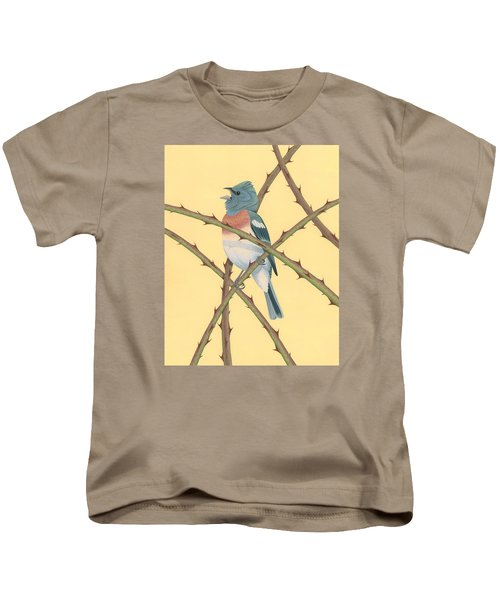 Lazuli Bunting Kids T-Shirt by Nathan Marcy