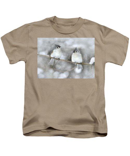 Let It Snow Kids T-Shirt by Lori Deiter