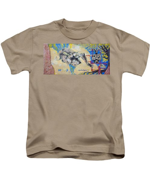 Minotaur Kids T-Shirt by Derrick Higgins