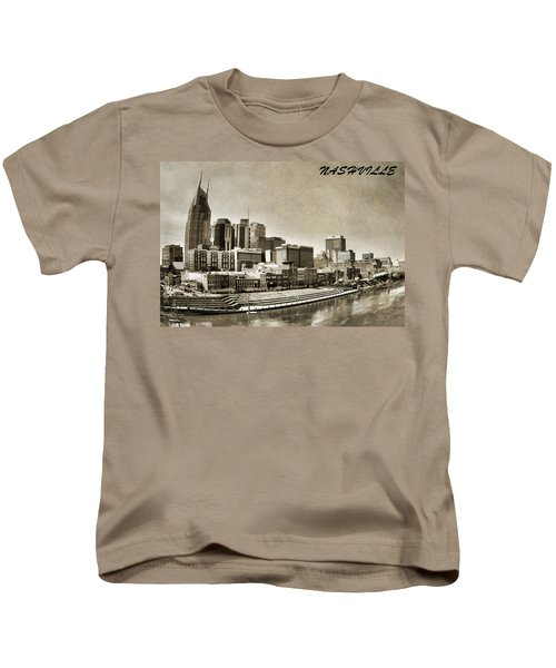 Nashville Tennessee Kids T-Shirt by Dan Sproul