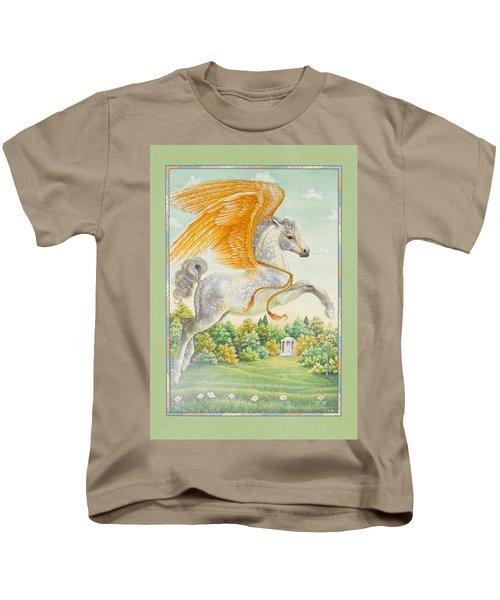 Pegasus Kids T-Shirt by Lynn Bywaters