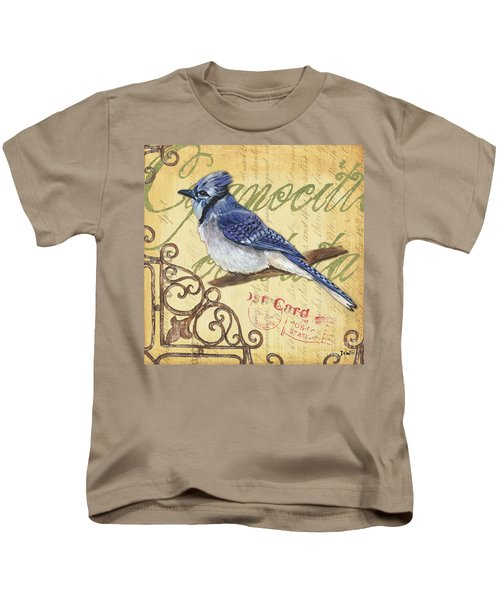 Pretty Bird 4 Kids T-Shirt by Debbie DeWitt