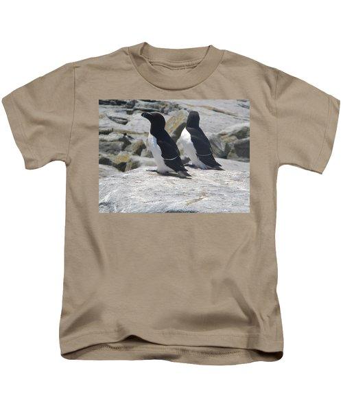 Razorbills 2 Kids T-Shirt by James Petersen
