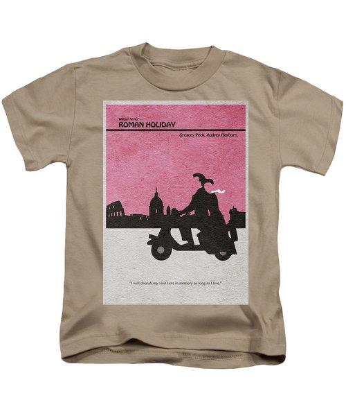 Roman Holiday Kids T-Shirt by Ayse Deniz