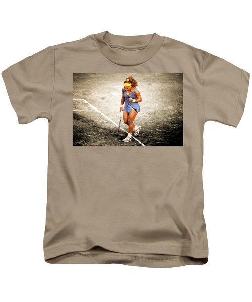 Serena Williams Count It Kids T-Shirt by Brian Reaves
