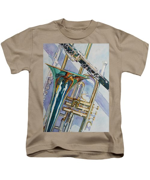 The Color Of Music Kids T-Shirt by Jenny Armitage