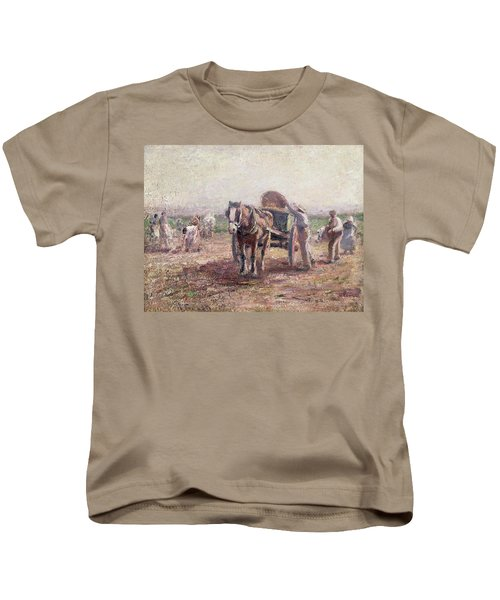 The Potato Pickers Kids T-Shirt by Harry Fidler