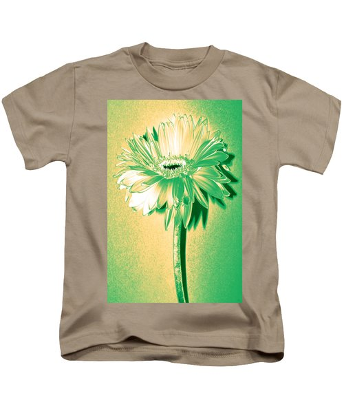 Touch Of Turquoise Zinnia Kids T-Shirt by Sherry Allen