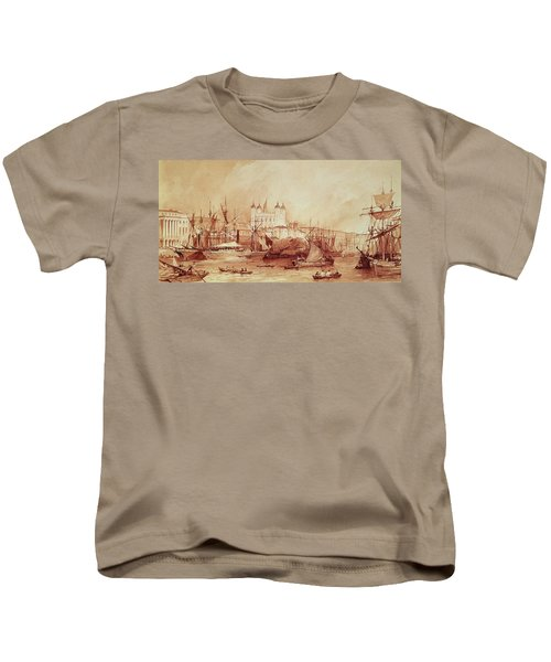 View Of The Tower Of London Kids T-Shirt by William Parrott