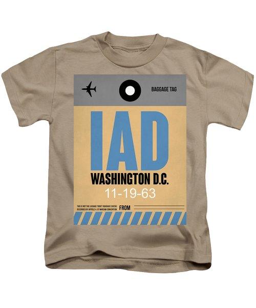 Washington D.c. Airport Poster 3 Kids T-Shirt by Naxart Studio