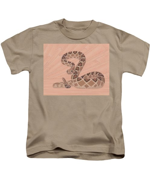 Western Diamondback Rattlesnake Kids T-Shirt by Nathan Marcy