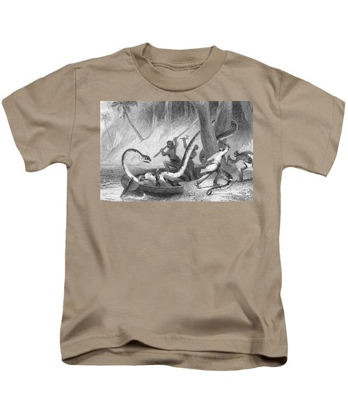 Boa Constrictor Attack Kids T-Shirt by Granger