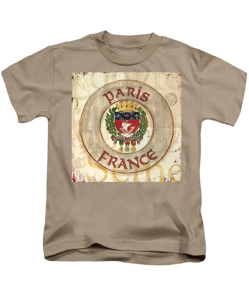 French Coat Of Arms Kids T-Shirt by Debbie DeWitt