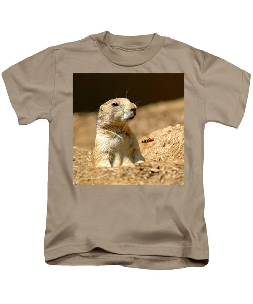 Prarie Dog Bee Alert Kids T-Shirt by LeeAnn McLaneGoetz McLaneGoetzStudioLLCcom
