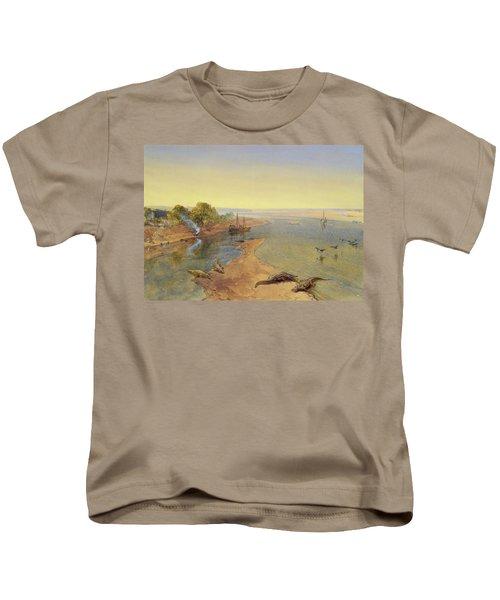 The Ganges Kids T-Shirt by William Crimea Simpson