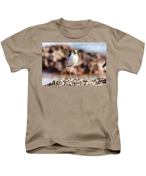 Yellow Mask Kids T-Shirt by Douglas Barnard