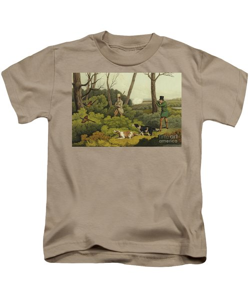 Pheasant Shooting Kids T-Shirt by Henry Thomas Alken