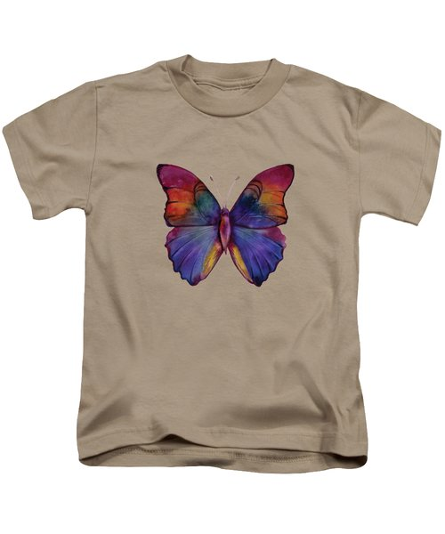 13 Narcissus Butterfly Kids T-Shirt by Amy Kirkpatrick