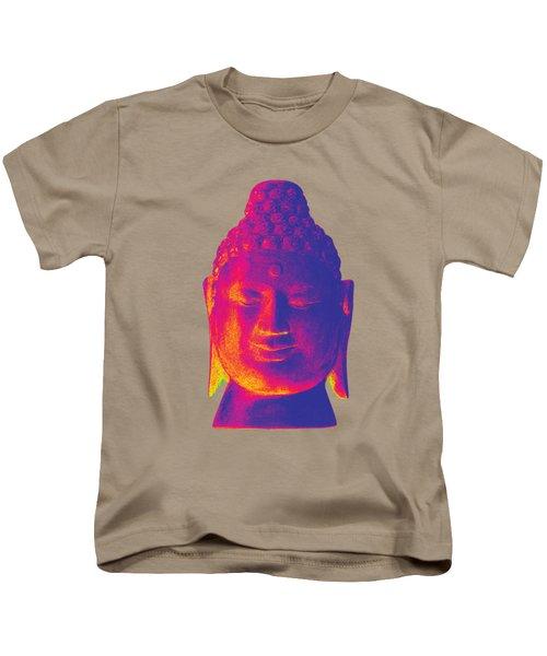 colorful Buddha - Borobudur Kids T-Shirt by Terrell Kaucher