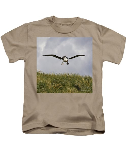 Black-browed Albatross Kids T-Shirt by Jean-Louis Klein & Marie-Luce Hubert