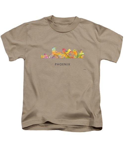Phoenix Arizona Skyline Kids T-Shirt by Marlene Watson