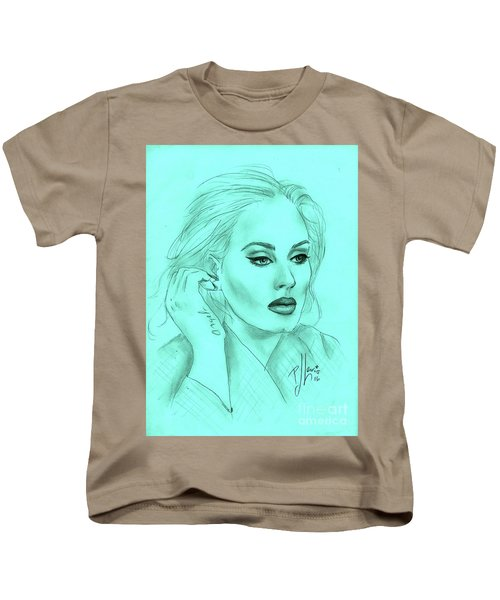 Adele Kids T-Shirt by P J Lewis