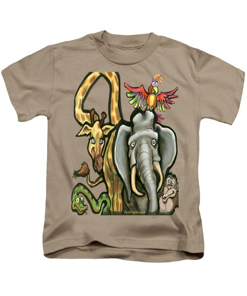 Zoo Animals Kids T-Shirt by Kevin Middleton