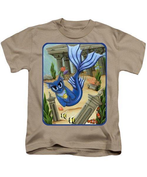Atlantean Mercat Kids T-Shirt by Carrie Hawks