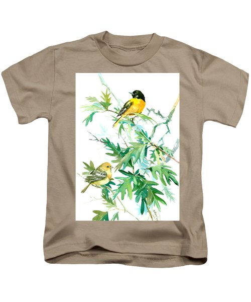 Baltimore Orioles And Oak Tree Kids T-Shirt by Suren Nersisyan