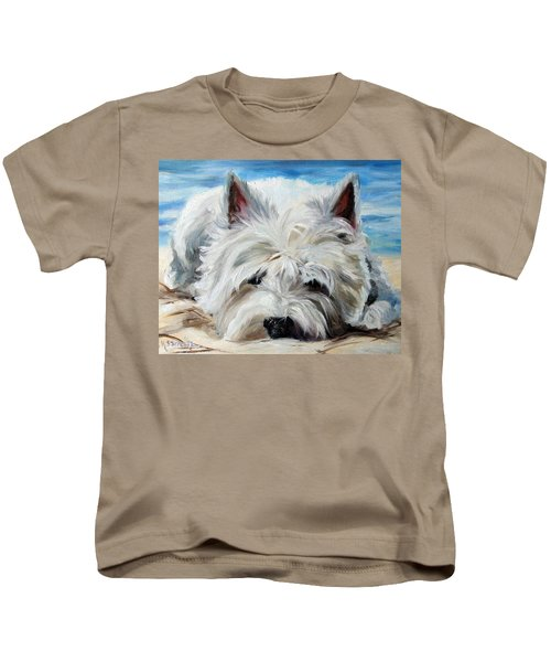 Beach Bum Kids T-Shirt by Mary Sparrow