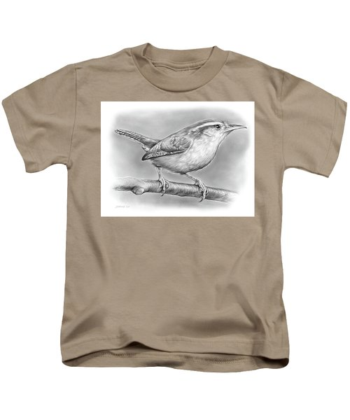 Carolina Wren Kids T-Shirt by Greg Joens