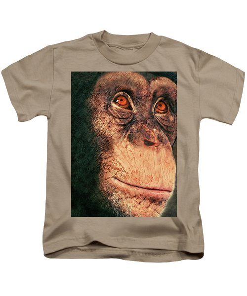 Chimp Kids T-Shirt by Jack Zulli