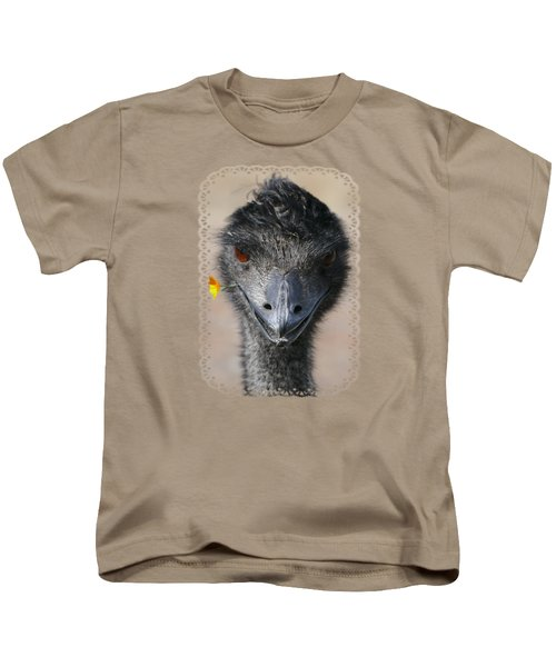 Happy Emu Kids T-Shirt by Ivana Westin
