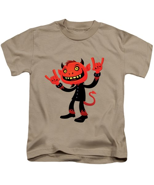 Heavy Metal Devil Kids T-Shirt by John Schwegel