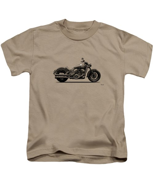 Indian Scout 2015 Kids T-Shirt by Mark Rogan