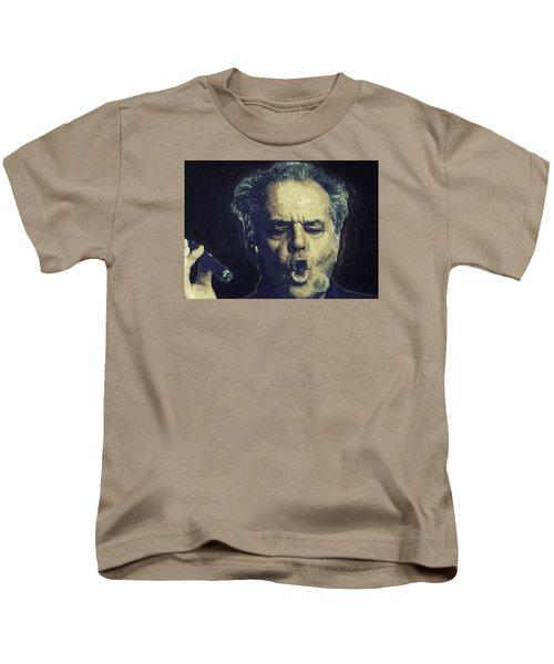 Jack Nicholson 2 Kids T-Shirt by Semih Yurdabak