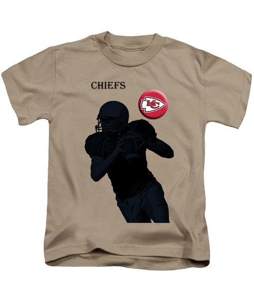 Kansas City Chiefs Football Kids T-Shirt by David Dehner