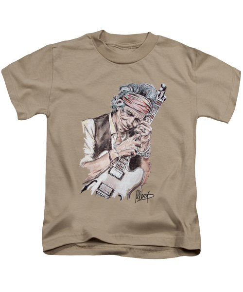 Keith Richards Kids T-Shirt by Melanie D