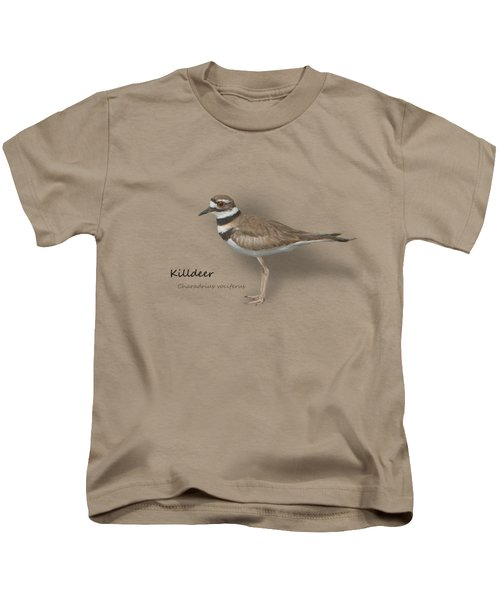 Killdeer - Charadrius Vociferus - Transparent Design Kids T-Shirt by Mitch Spence