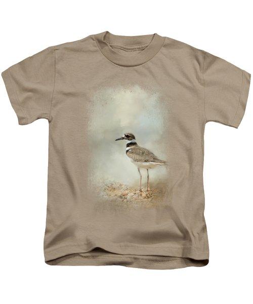 Killdeer On The Rocks Kids T-Shirt by Jai Johnson