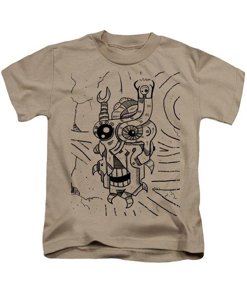 Killer Robot Kids T-Shirt by Sotuland Art
