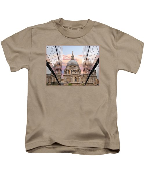 London Awakes - St. Pauls Cathedral Kids T-Shirt by Gill Billington