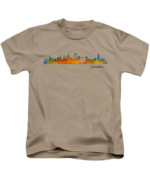 London City Skyline Hq V1 Kids T-Shirt by HQ Photo