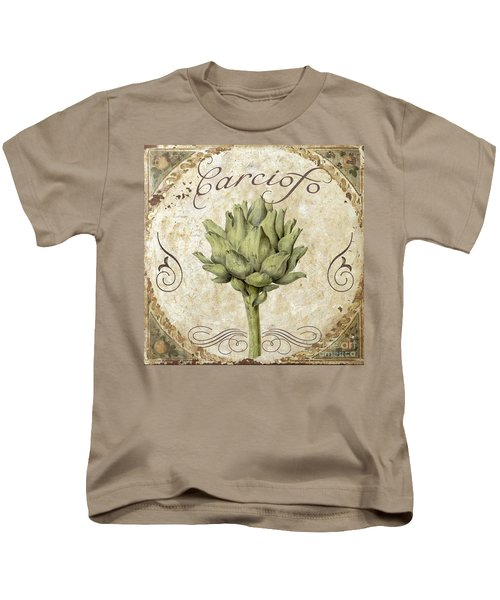 Mangia Carciofo Artichoke Kids T-Shirt by Mindy Sommers