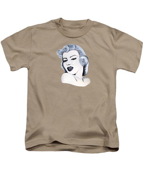 Marilyn Monroe Kids T-Shirt by Ivana Hlavca