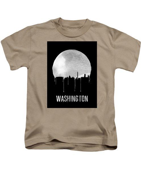 Memphis Skyline Black Kids T-Shirt by Naxart Studio