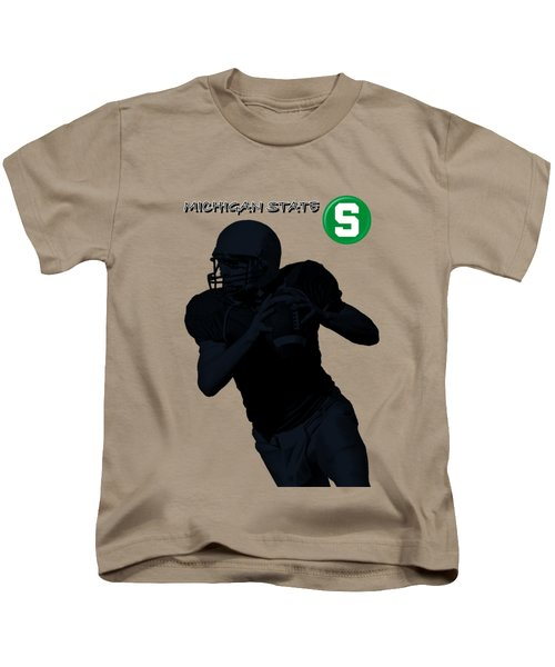 Michigan State Football Kids T-Shirt by David Dehner